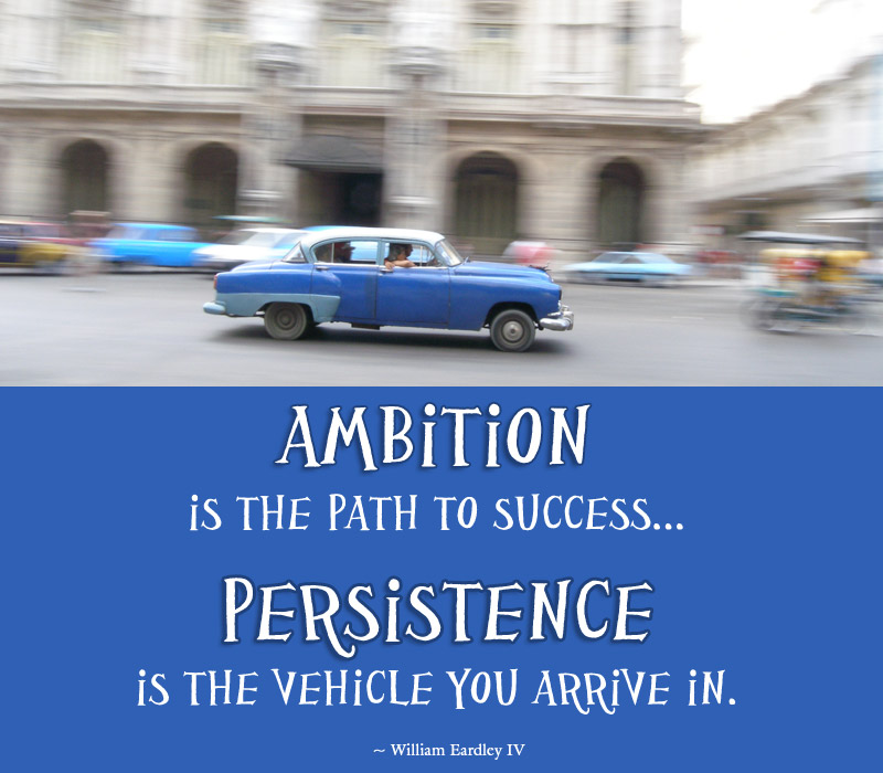 Ambition is the Path to Success... Persistence is the vehicle you arrive in.