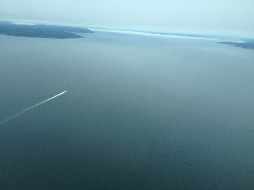 Over Puget Sound