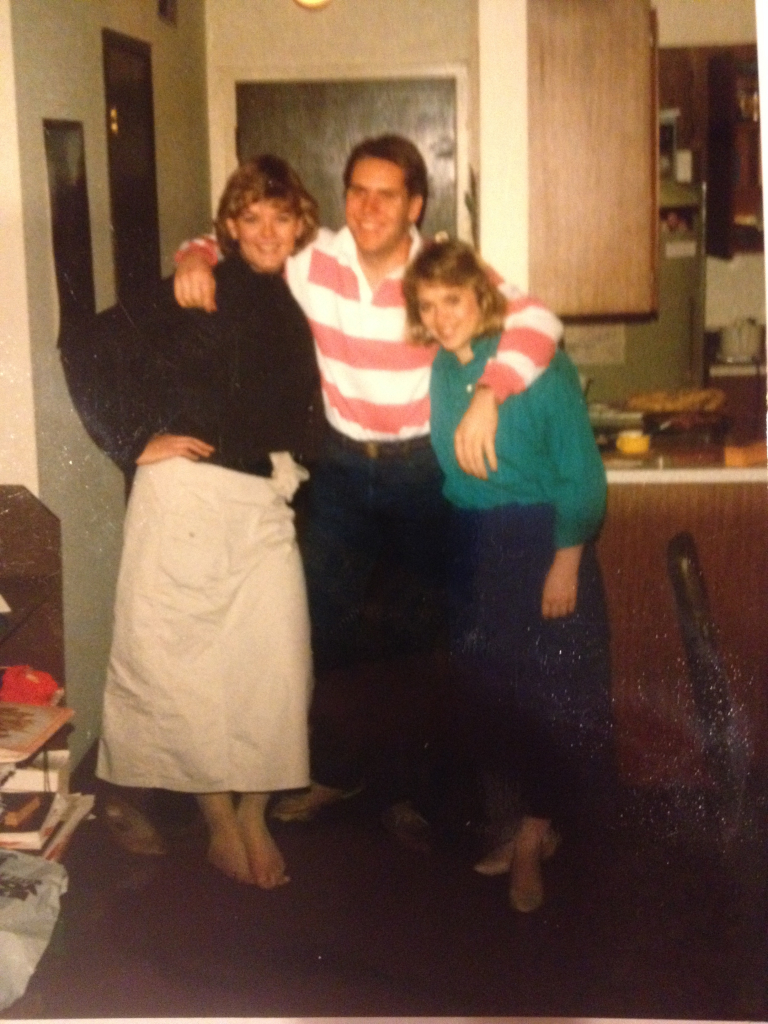 Kelly, Cami and I getting ready for a night on the town in Eugene (circa 1986)