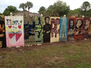 "Just a small section of the ""Paint the trail"" art work viewable along Seminole County Trail near Longwood, Florida."