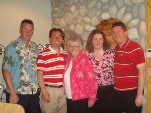George, Paul, Mom, Lynette and me together in 2010